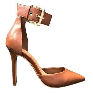 Aldo Astfeld ankle strap pump brown leather 6.5